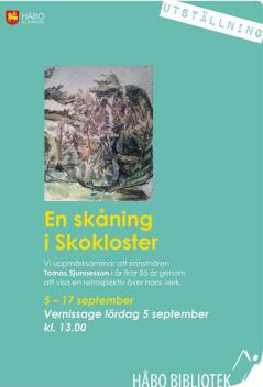 Vernissage på Håbo bibliotek 5 september